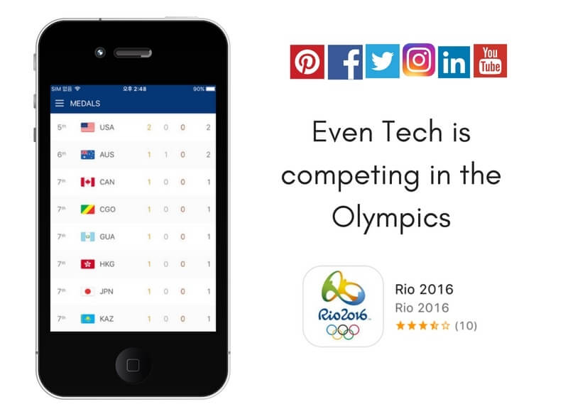 Even tech is competing in the Olympics