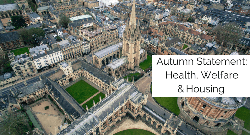 Autumn Statement: Health, Welfare & Housing