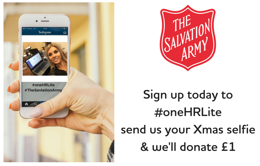 Sign up to oneHR and help donate to The Salvation Army